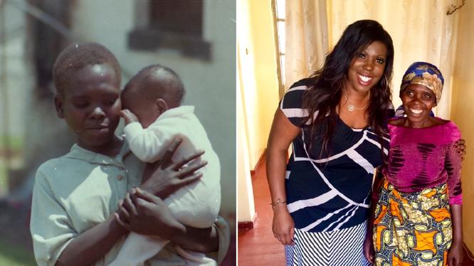 Грейси харкема с матерью в детстве и сейчас