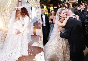 Лучшие свадебные платья звезд за год