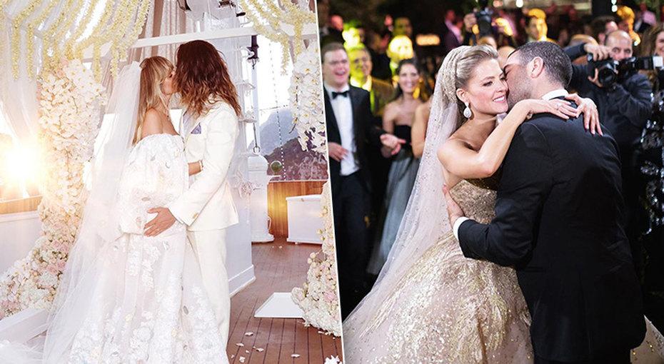 Лучшие свадебные платья звезд загод