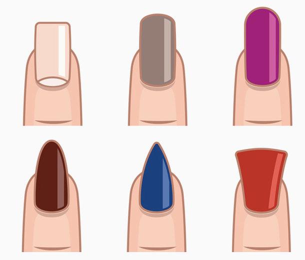 Как правильно выбирать цвет маникюра дляразных форм ногтей