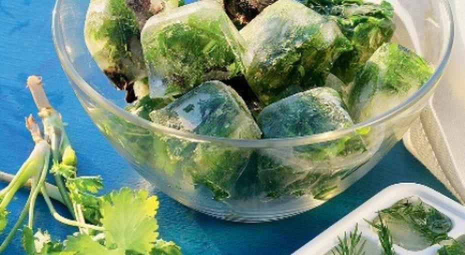 Как заморозить свежую зелень назиму