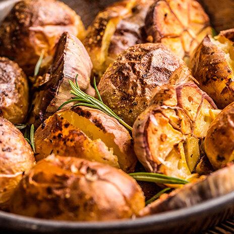 Рецепт печеной картошки с салом