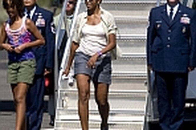 Шорты Мишель Обамы разделили Америку