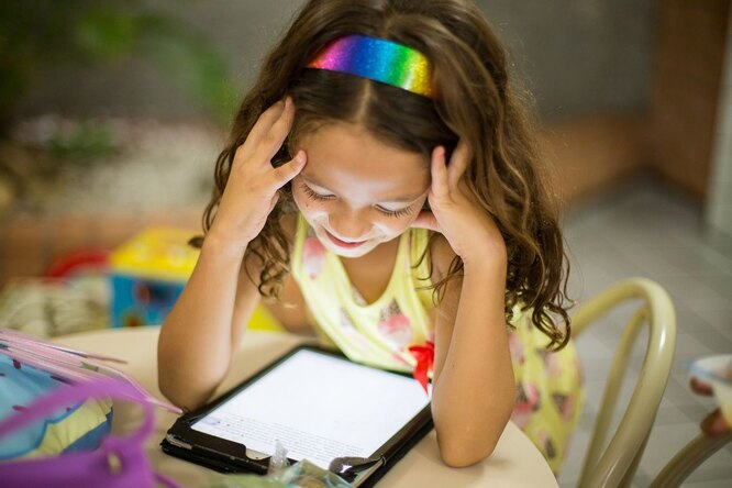 ребенок, компьютер, дистанционка