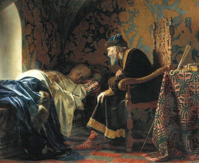 «Царь Иван Грозный любуется на Василису Мелентьевну», Григорий Седов (1875)