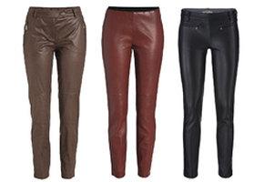 Кожаные брюки - звездный тренд