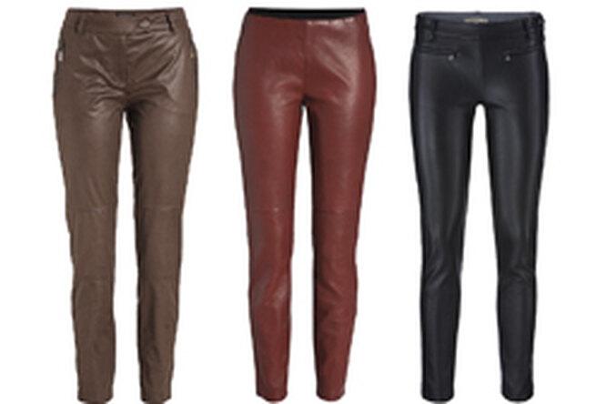 Кожаные брюки — звездный тренд