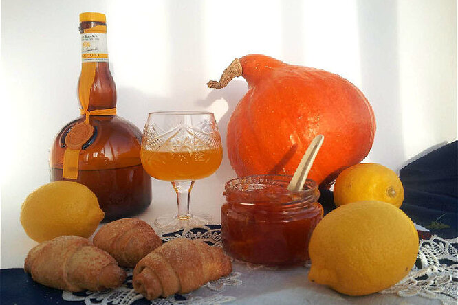"""Ликёр """"Юдзу"""" и тыквенно- лимонный джем"""