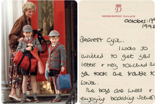 Впервые опубликованы письма принцессы Дианы, вкоторых она рассказывает одетях