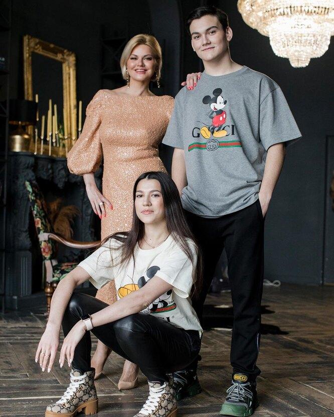 Ирина Круг с дочерью Мариной и сыном Сашей
