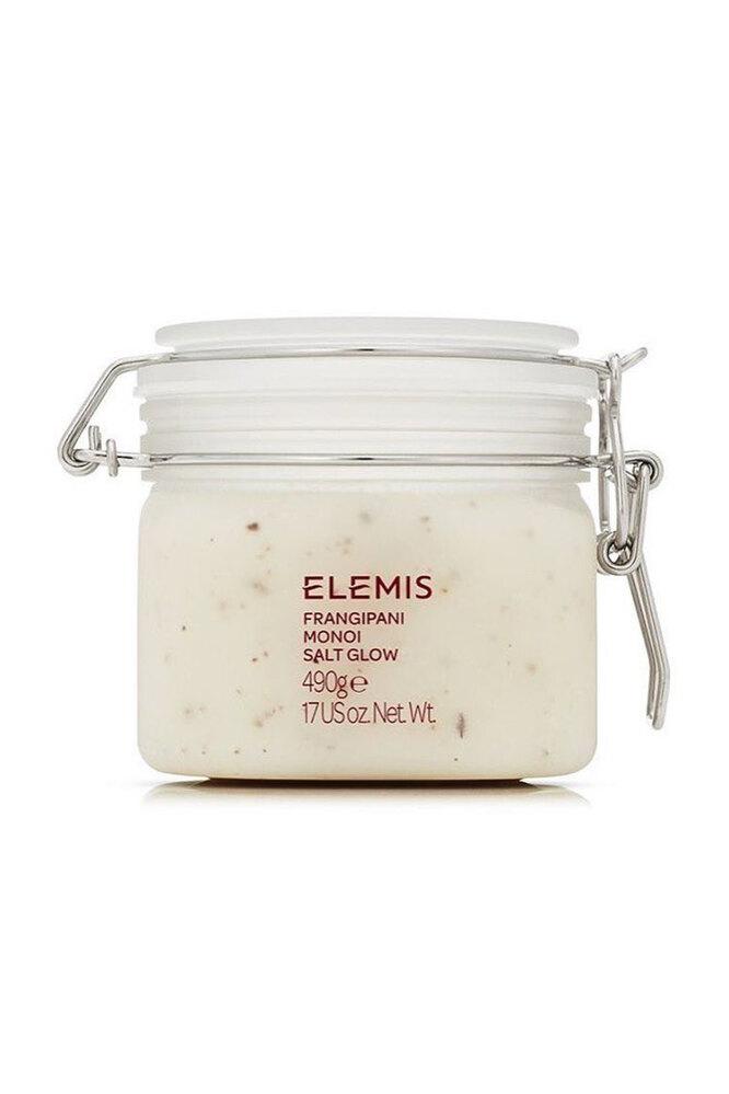 """Cмягчающий соляной скраб с морской солью, гибискусом, маслами монои и цветов франжипани «Франжипани-Монои"""", Elemis"""