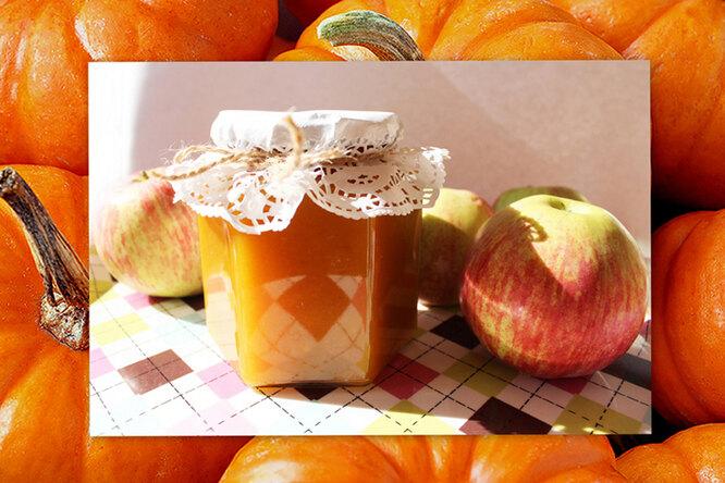 Повидло тыквенно-яблочное «Оранжевое настроение»