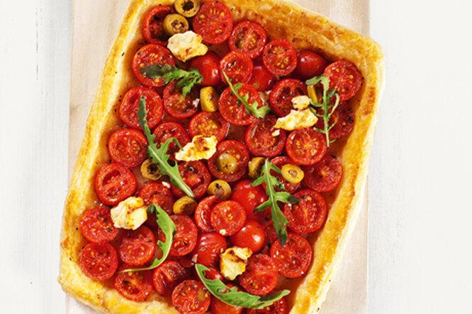 Пирог с помидорами