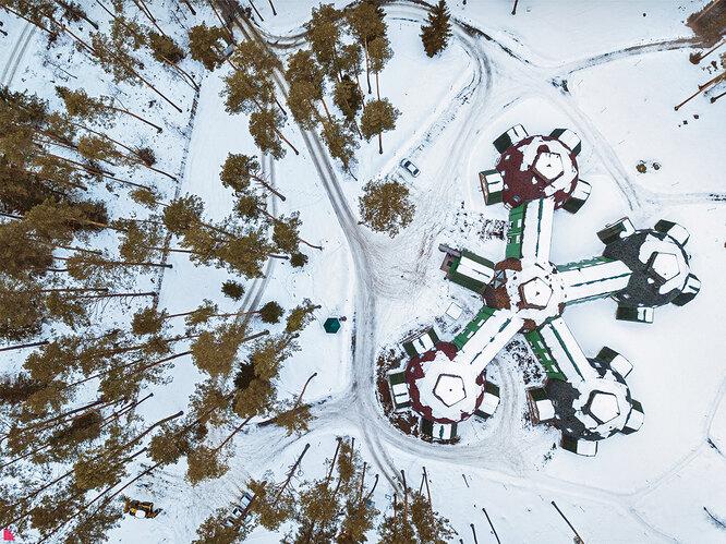 Сверху здание Центра «Улутай» выглядит как космическая станция