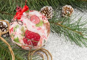 Мастер-класс: декупаж новогодних шаров