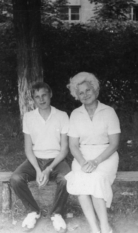 Коля Кобликов с матерью Верой Фёдоровной