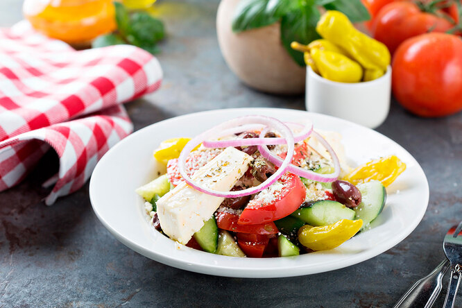 Рецепт  салата «Греческий»