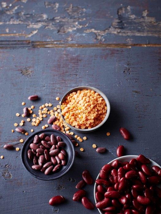 фасоль и орехи