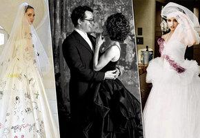 Самые необычные свадебные платья звезд