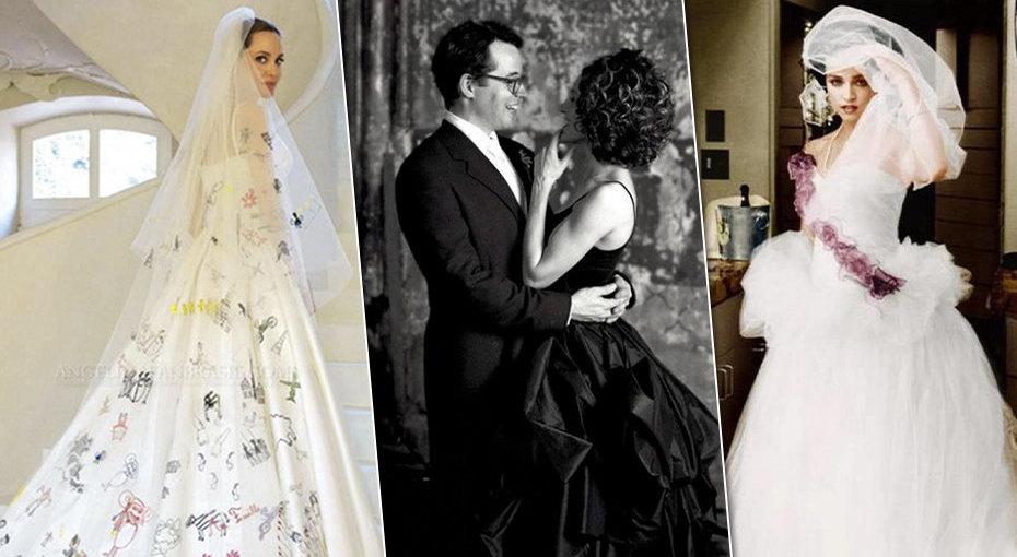 0e97b055415 Самые необычные свадебные платья звезд