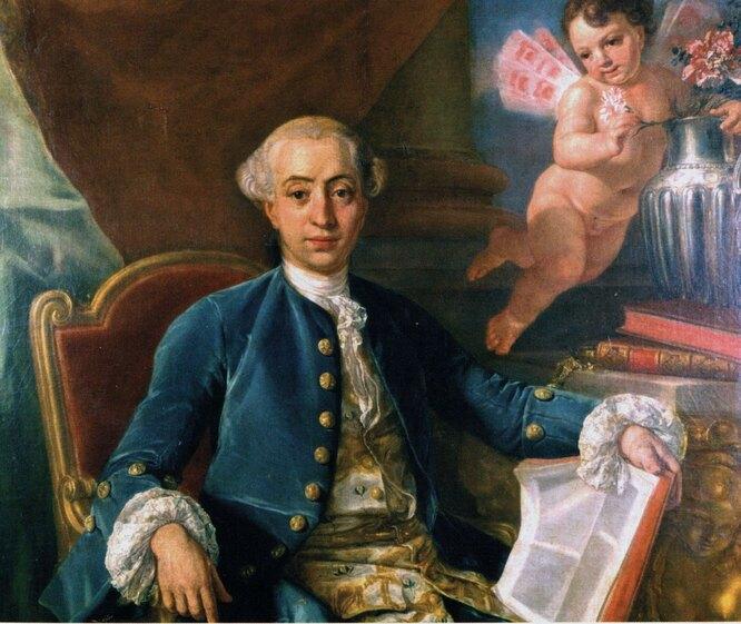 Предположительный портрет Джакомо Казановы, приписываемый кисти Франческо Наричи
