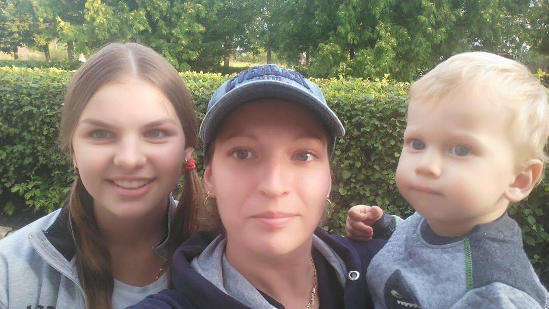 Елена с детьми. Фото из личного архива