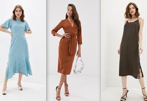 10 классных платьев ниже колена, которые не добавят возраста