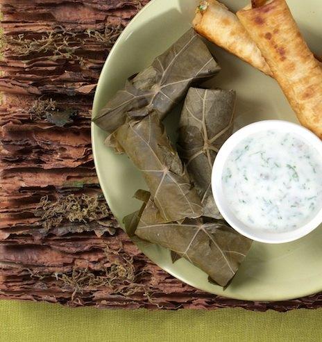 Рецепт долмы с рисом и зеленью