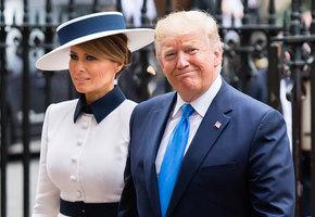 В стиле Леди Ди: образы Меланьи Трамп во время визита в Англию