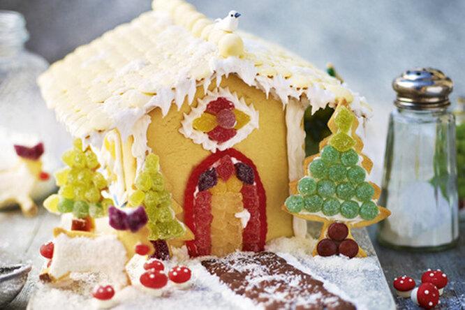 Потрясающе красивый и несложный пряничный домик