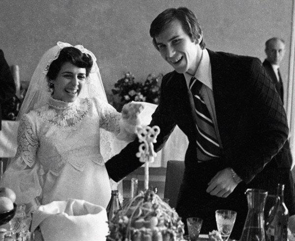 Ирина Роднина и Александр Зайцев 1975 г.