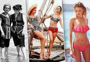 Эволюция пляжной моды: как изменились летние наряды за 100 лет