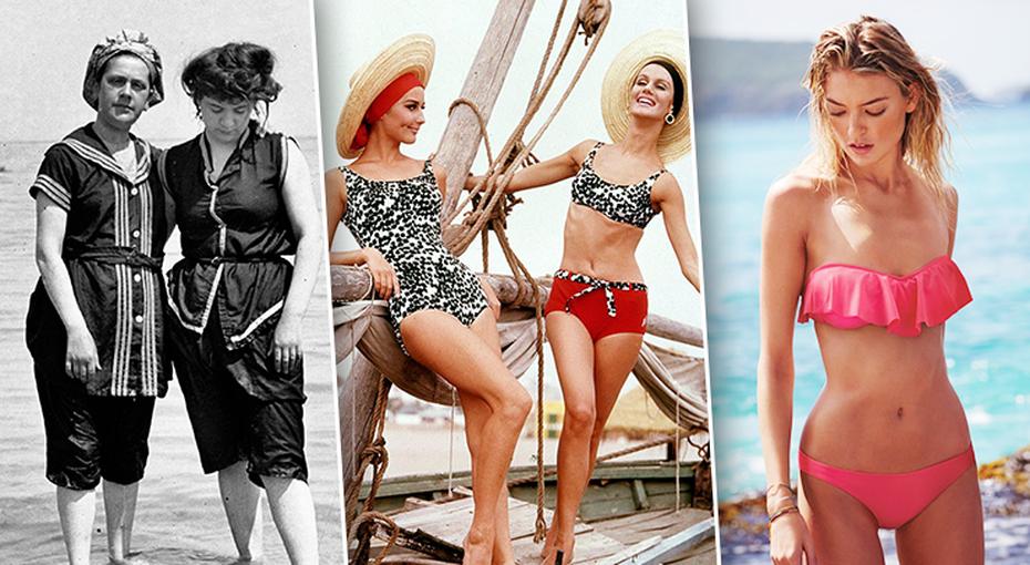 Эволюция пляжной моды: как изменились летние наряды за100 лет
