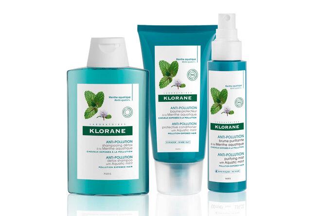 Детокс-шампунь, защитные кондиционер и вуаль с антиоксидантным эффектом с экстрактом водной мяты Anti-Pollution, Klorane