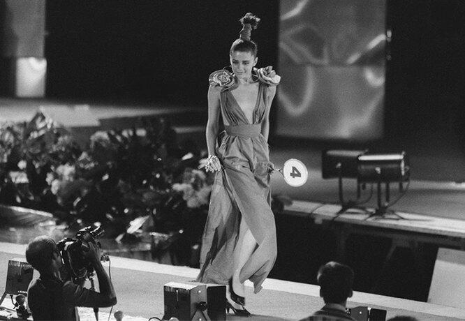 Оксана Фандера во время конкурса «Фантазия»