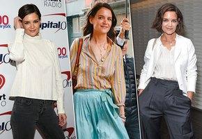 Блузы на все случаи жизни: учимся стильным приемам у Кэти Холмс