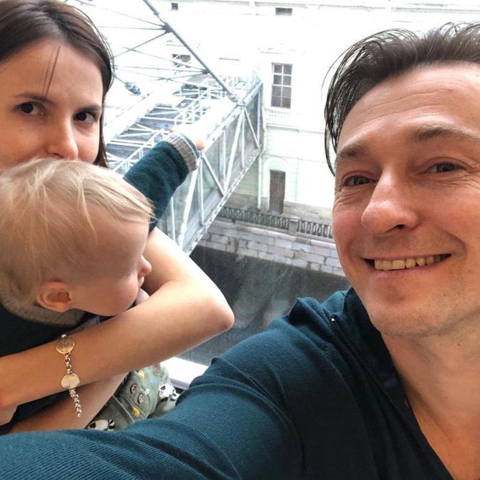 Сергей Безруков, Анна Матисон иих сын Степан
