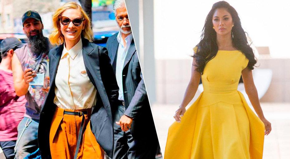 Нежные платья икожаные легинсы: самые стильные образы знаменитостей