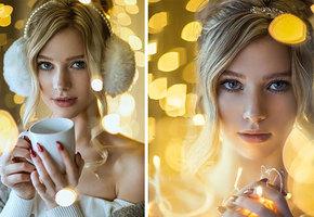 Советы фотографа: как сделать потрясающие новогодние фотографии при помощи гирлянды