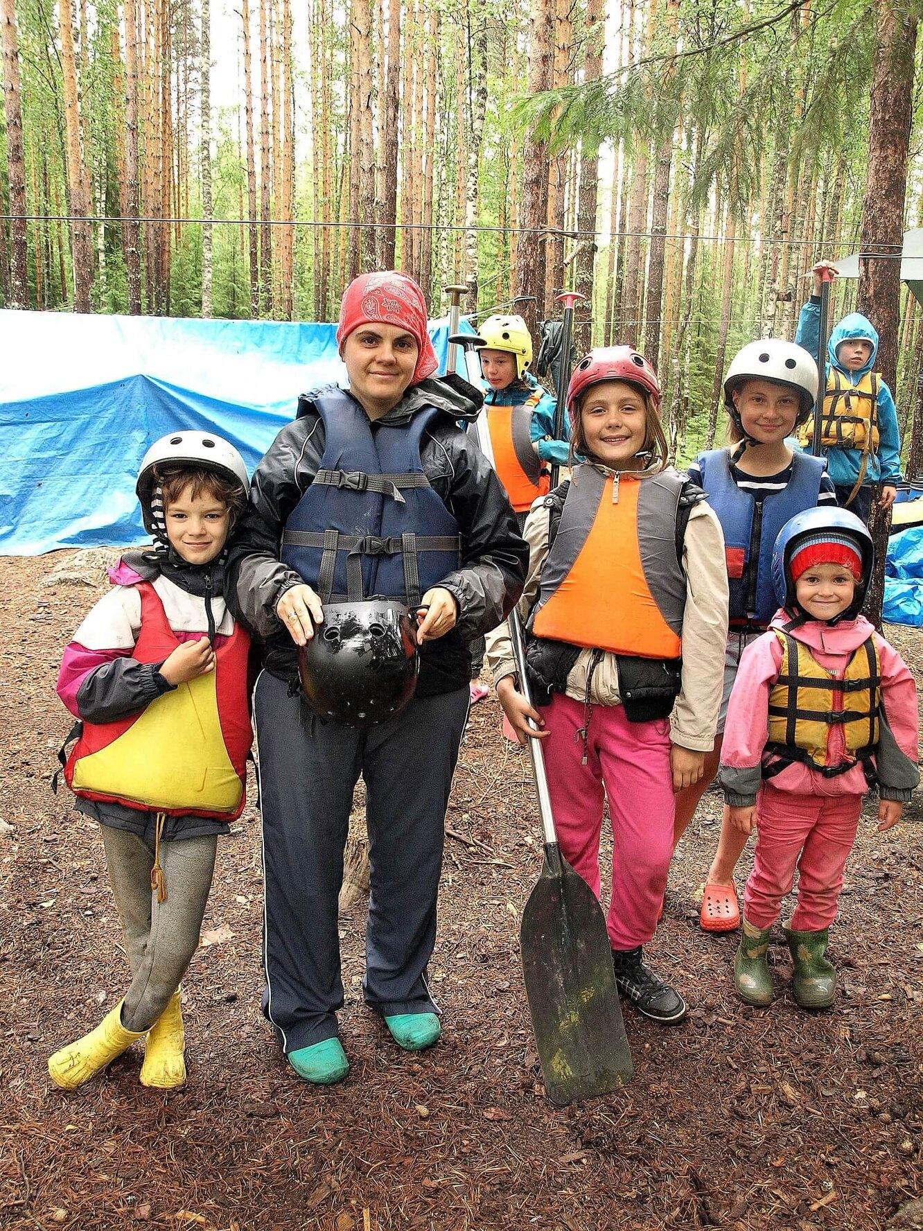 Татьяна Дробышевская и ее дети