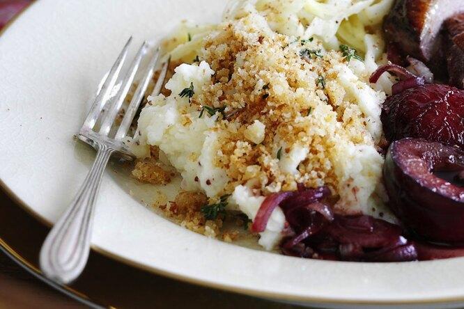 Картофельное пюре с хрустящим тимьяном
