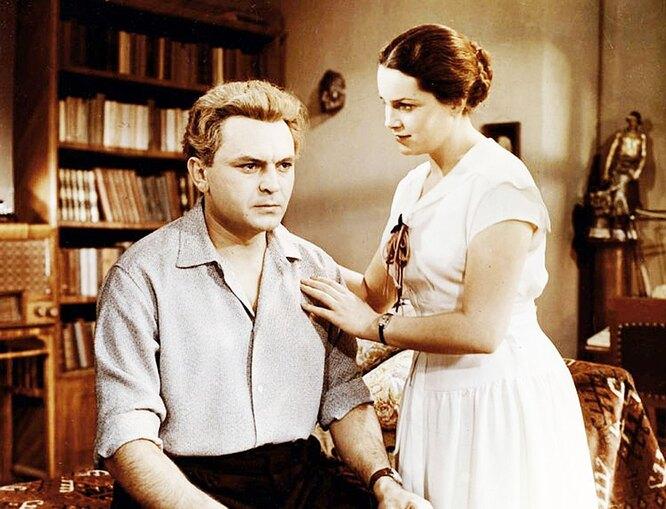 Сергей Бондарчук и Элина Быстрицкая