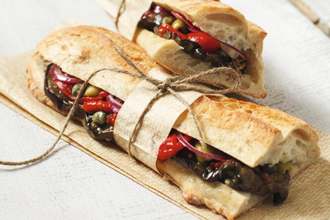 Европейский овощной сэндвич