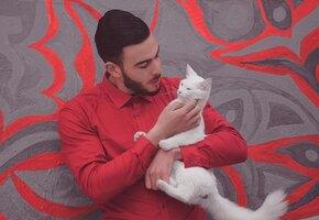 «Красавчик, я с тобой»: бездомная кошка проводила парня из кафе и нашла дом