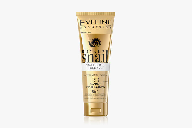 Матирующий ВВ-крем против несовершенств c фильтратом секрета улитки Royal Snail, Eveline