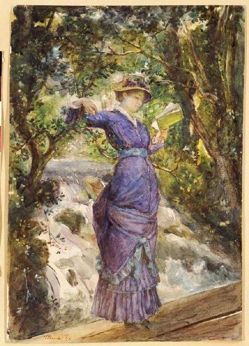 «Девушка, читающая наводопаде», 1882