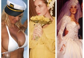 Уникальные и скандальные. Самые интересные свадебные платья знаменитостей