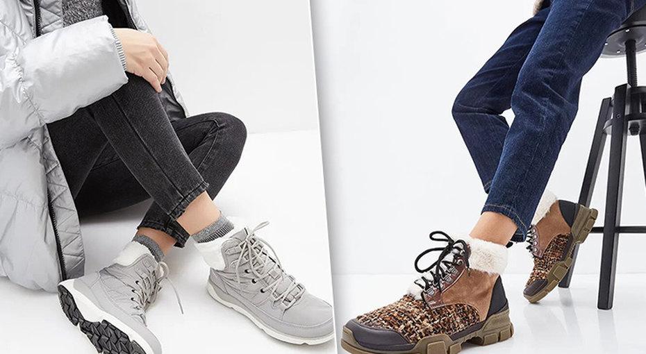 Тепло ис мехом: модные ботинки длязимних образов