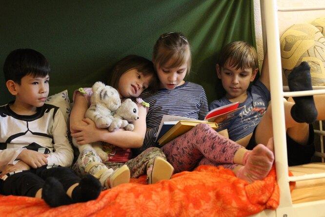 Кирилл, Нина, Галя и Тимур