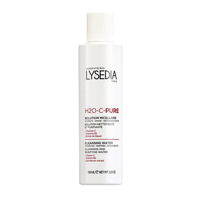 Мицеллярный очищающий лосьон для чувствительной кожи с витамином С, экстрактом василька синего и пантенолом H2O-C-PURE Solution Micellaire, Lysedia